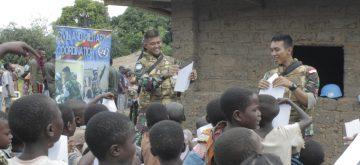 Prajurit Satgas TNI Konga XXXIX-A RDB Gelar Bakti Sosial di Kongo